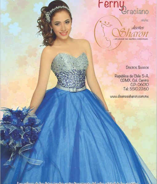 blue crystal princess dress